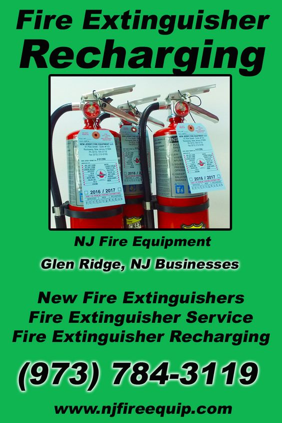 Fire Extinguisher Recharging Glen Ridge, NJ (973) 784-3119 Local New Jersey Businesses Discover the Complete Fire Protection Source.  We're NJ Fire Equipment.. Call us today!