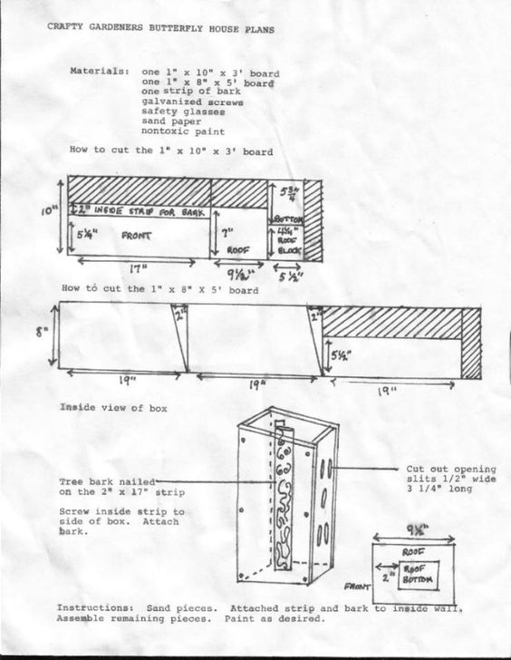 plans for a butterfly house Woodworking projects Pinterest A