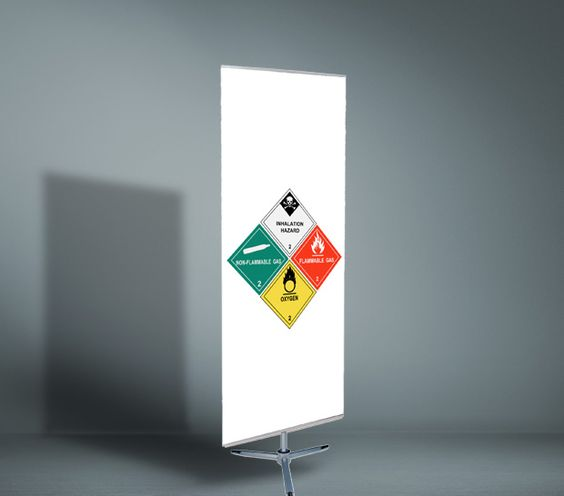 Tia Roll Up Stand - It can be set-up as a double-sided display.