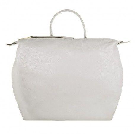 Abro Tasche – Adria Handbag Calf Leather Light Grey – in grau – Henkeltasche für Damen