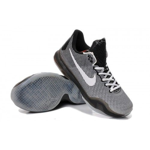2015 Nike Kobe 10 Gray Black Basketball Shoes Online