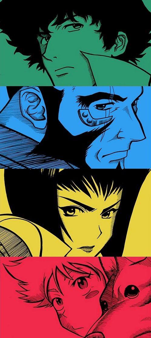 Cowboy Bebop | Ein, Jet Black, Spike Spiegel, Faye Valentine, Edward Wong Hau Pepelu Tivrusky IV | Radical Ed |