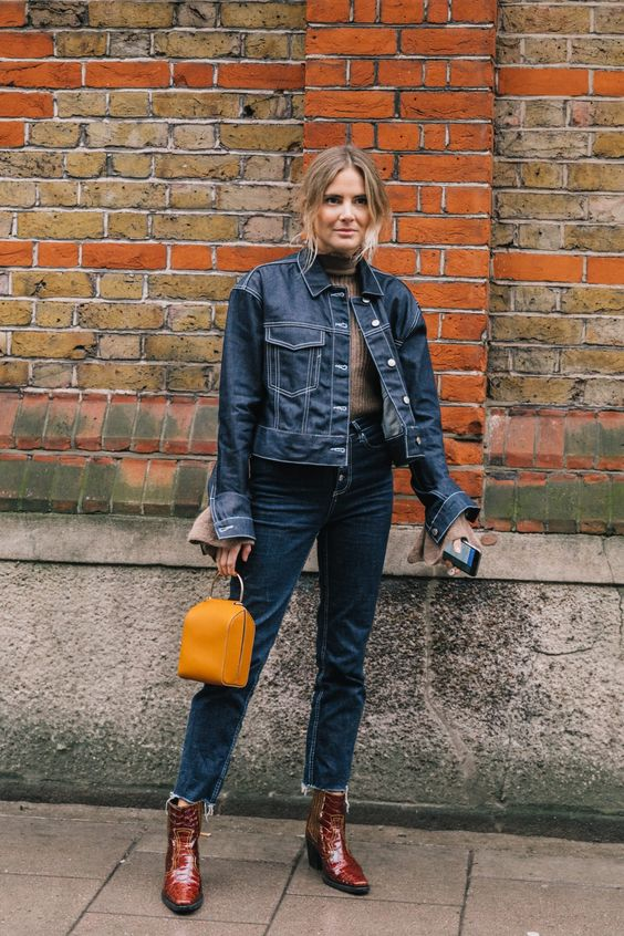 Double Denim. LFW Fall 18/19 Street Style