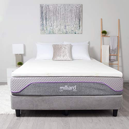 Milliard 2 Gel Infused Memory Foam Mattress Topper Ultra Soft Removable Bamboo Cover W Memory Foam Mattress Topper Foam Mattress Topper Memory Foam Mattress