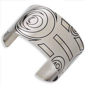 Stainless Steel Abstract Brushed Cuff Bangle Jewelry Adviser Bangle Bracelets. $43.32