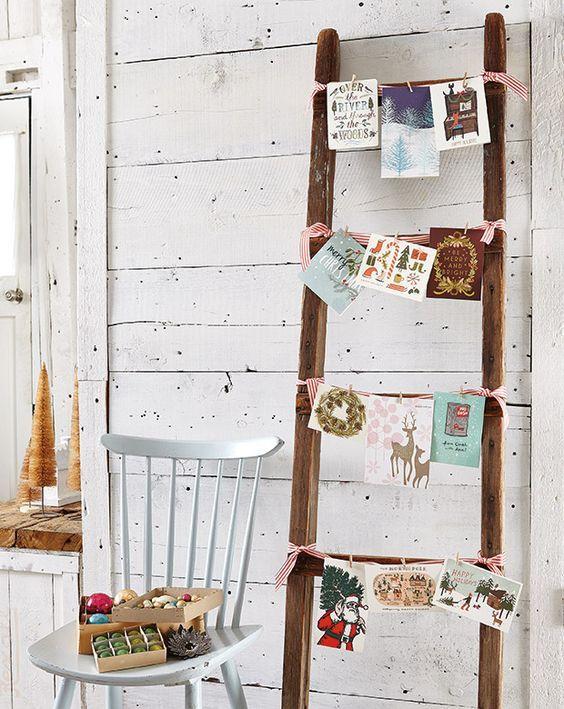 10 Creative Christmas Card Display Ideas Christmas Card Display Hanging Christmas Cards Diy Christmas Table