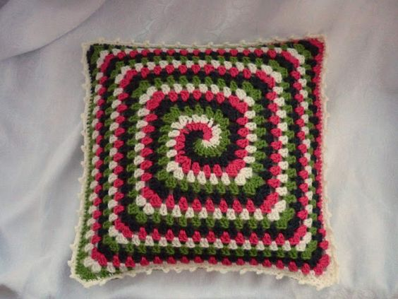 colour in a simple life: Groovy Granny Pillow