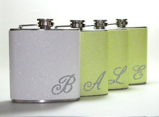 Four White and Yellow Personalized Glitter 4 6 by readysetgo2370, $70.00