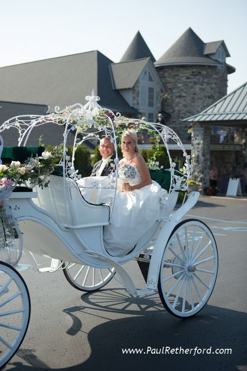 Wedding carriage at Castle Farms by Abraham's Horse Carriage #PureMichigan #Wedding