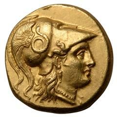 Ancient Greek Gold Coin of King Alexander the Great, 323 BC