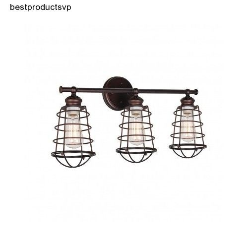 Industrial Modern Vanity Lights : Oil Rubbed Bronze Vanity Light Bathroom Contemporary Fixture Wall Industrial 3 Wall mount ...