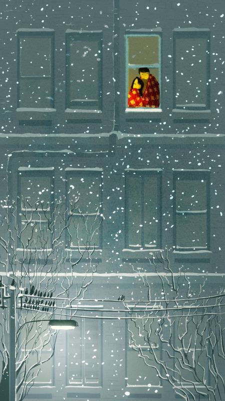 Pascal Campion  Mirame aun en tus dias de sol, mirame aunque el sol este en mis ojos, mirame aunque tu sol inmenso me ciegue, mirame aunque tu olvido, haya llegado a tus ojos.: Snow Window, Snow Fall, Art Illustrations, Love Illustration, Winter Art Illustration, Cozy Illustration, Winter Illustration, Pascalcampion Deviantart
