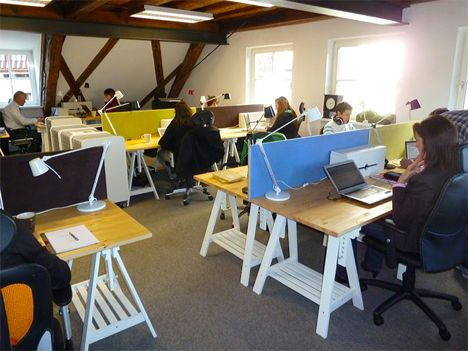 Table On Pinterest Coworking Space Office Table Design And Office