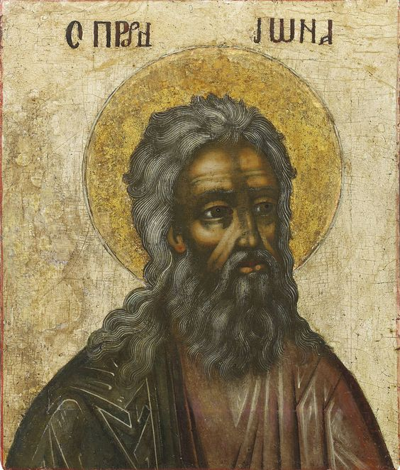 Detailed view: MM077. Prophet Jonah- exhibited at the Temple Gallery, specialists in Russian icons