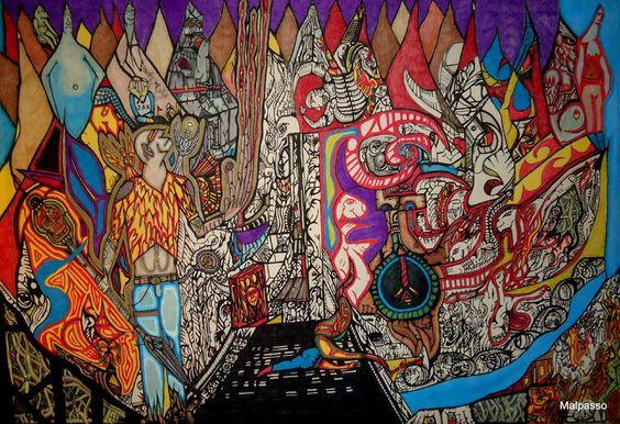 "Saatchi Online Artist: artpiece malpasso; Pen and Ink, 2006, Drawing ""THE JUGGERNAUT"""