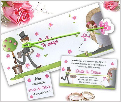Tarjetas de casamiento invitaciones de bodas inspiraci n - Tarjeta de boda ...