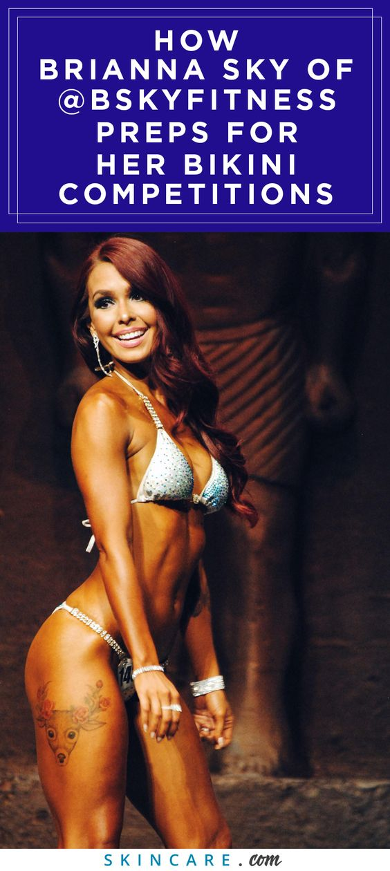 Ever wonder how to prep your skin for a bikini competition? We talked to personal trainer, Brianna Sky of BSKYFITNESS to learn more on how she got her bikini body prepped and ready for her bikini competition spray tan— and how she removed it. Brianna Sky shares her tips and tricks to preparing your body and skin for a bikini competition, here.