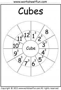 Printables Squares And Cubes Worksheet other cycling and wheels on pinterest cubes worksheet classical conversations cycle 2 week 11