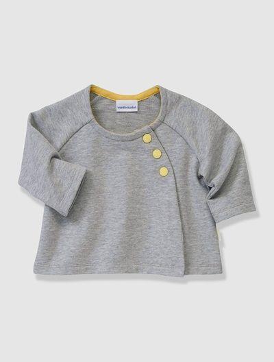 Bio-Kollektion: Sweatjacke für Babys GRAU MELIERT
