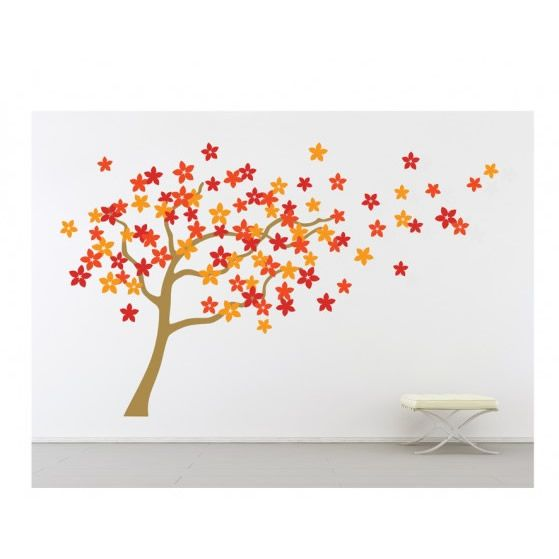 Floral tree wall decals. £39.99  http://www.worldstores.co.uk/p/Flower_Tree_Wall_Stickers_-_Light_Brown.htm