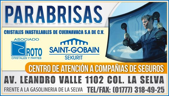► PARABRISAS ↓ Cristales inastillables ↓ Tel: (777) 318-49-25 #Cuernavaca #Morelos #Parabrisas #Cristales