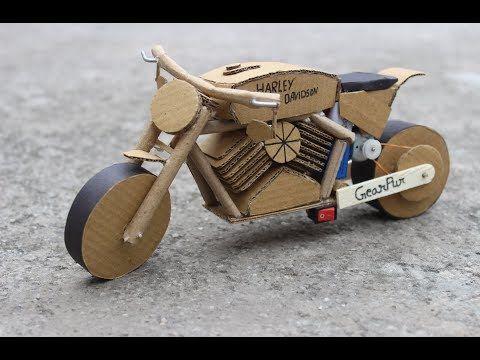 How To Make Harley Davidson Using Cardboard Electrick Bike