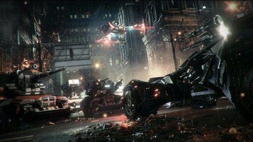 Batmobile assault mode Arkham knight