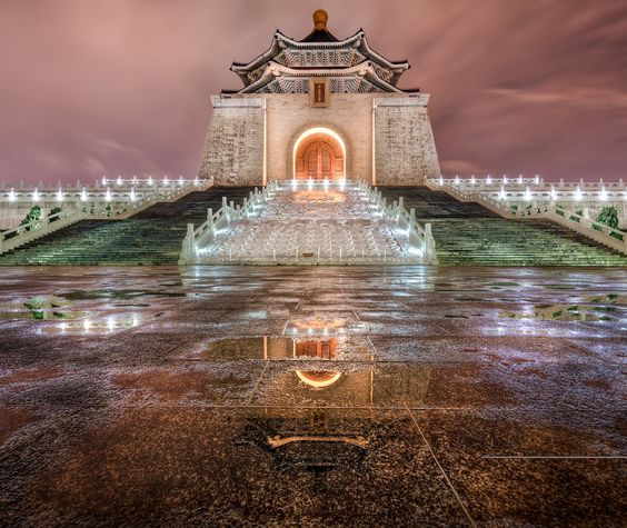 Nightfall at Chiang Kai-shek - Taipei Taiwan