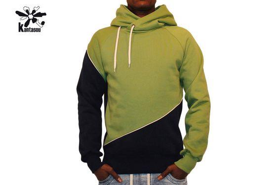 Hoodies - Hoody Didier EW 8 - ein Designerstück von kantasou bei DaWanda
