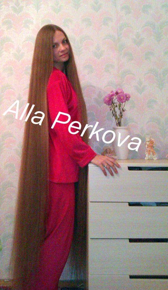 Alla Perkova Rambut Panjang Pinterest