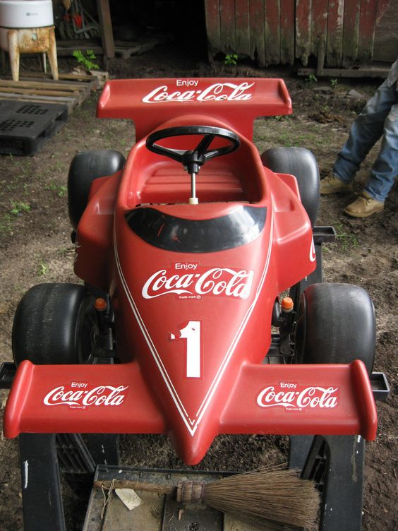 Coca Cola Pedal Indy Race Car RARE Amazing | eBay
