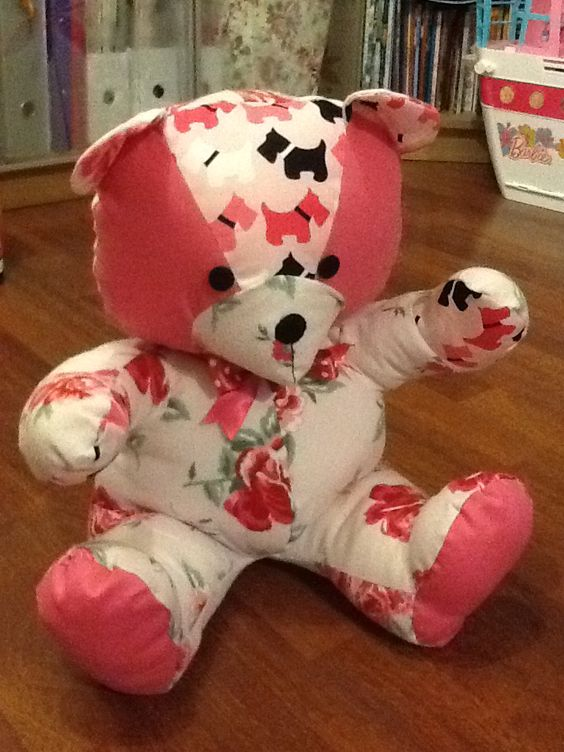 Memory bear using some of my daughters clothes