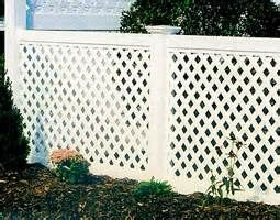 This large fence is made with composite material that is impervious to the weather. It's able to stand up to anything and even though it doesn't give much privacy it's tall enough to keep out (or in) anything you want.