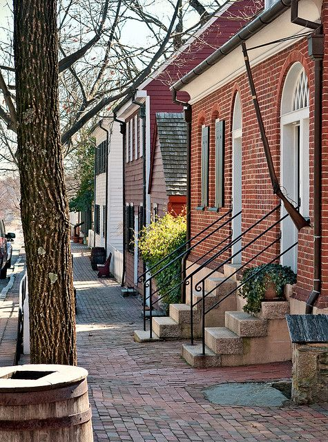 South Main Street, Old Salem, Winston-Salem, North Carolina: great city, great historical village, great women's college, and great memories.  Wish we still lived here.
