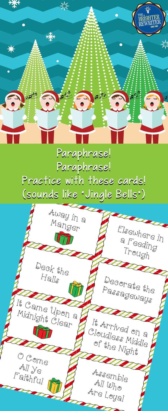 Get Thi Fun Christma Carol Activity And Practice Paraphrasing During The Holiday By Having Stude Activitie Funny Song How To Title A Paraphrase
