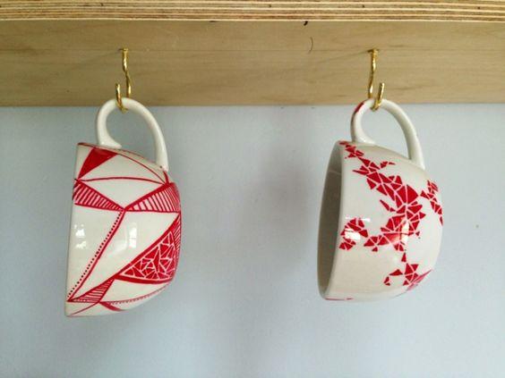 keramik bemalen ideen tassen gestalten geschirr bemalen pinterest selbermachen kaffee und. Black Bedroom Furniture Sets. Home Design Ideas