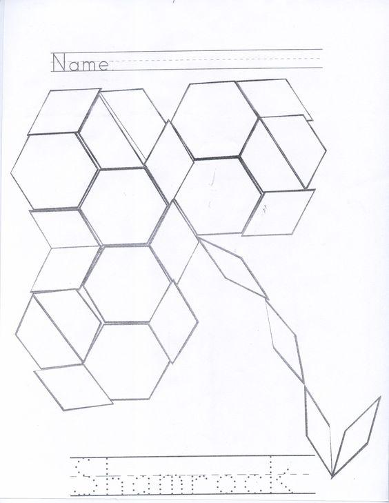 Shape, Pattern blocks and Patterns on Pinterest