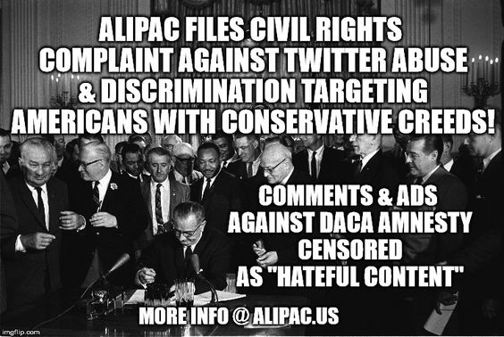 Civil Rights Complaints To Us >> Civil Rights Complaint Filed Against Twitter For Silencing