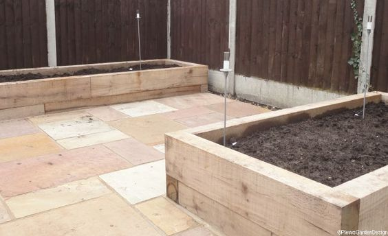 Gardens Limestone Patio And Raised Beds On Pinterest