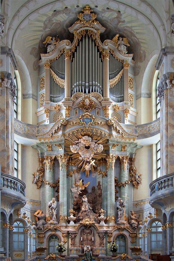 Frauenkirche Dresden Baroque Altar Baroque Architecture Architecture Ancient Architecture