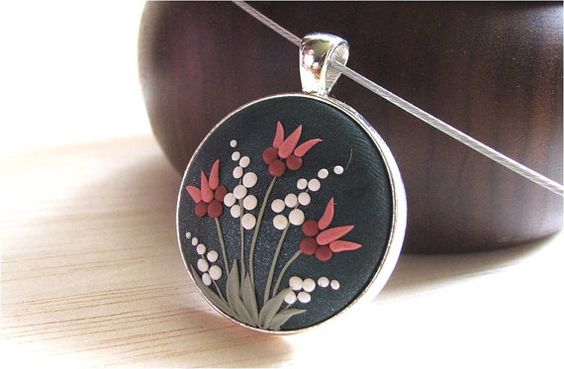 Tulip Flower Jewelry Floral Jewelry Floral Pendant by Floraljewel