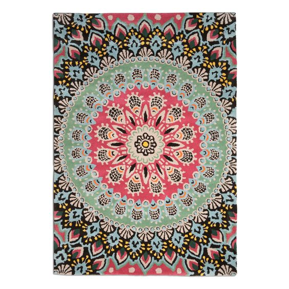 nomadic pink and blue rug home decor pinterest soft furnishings blue rugs and rugs. Black Bedroom Furniture Sets. Home Design Ideas