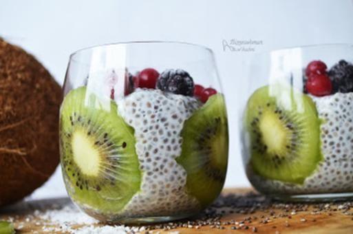 Pudding Z Chia Na Mleku Kokosowym Przepis Food Fruit Fruit Salad