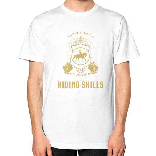 Horse riding skills Unisex T-Shirt (on man)