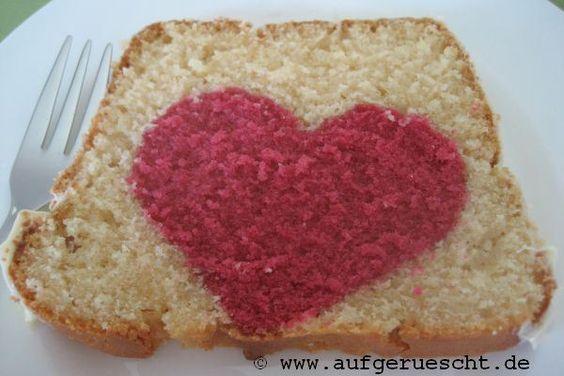 Herzkuchen (gebacken nach einem Rezept von Marmorkuchen)
