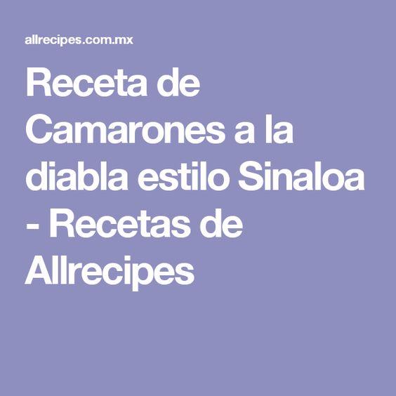 Receta de Camarones a la diabla estilo Sinaloa - Recetas de Allrecipes