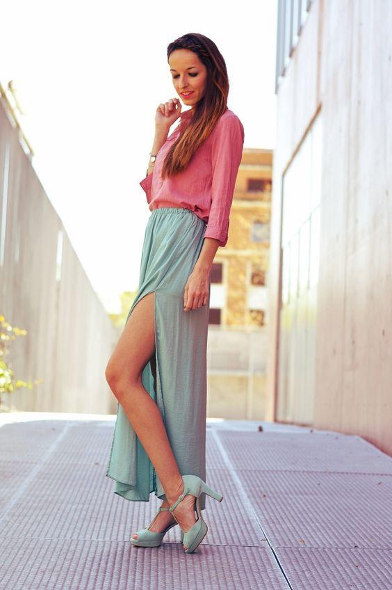 look con falda larga