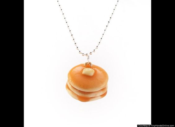 Scented Pancake Necklace , man they've thought of everything! Lol!