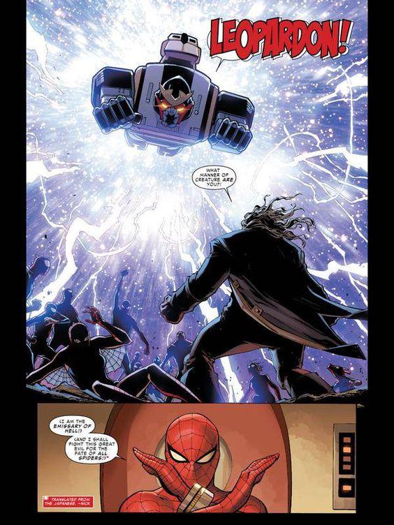 東映版スパイダーマンのレオパルドン、ついにマーベル公式に登場するも初黒星 : ゴールデンタイムズ