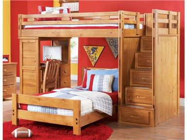 Shop For Canyon Creekside Twin Step Loft Bed With Student